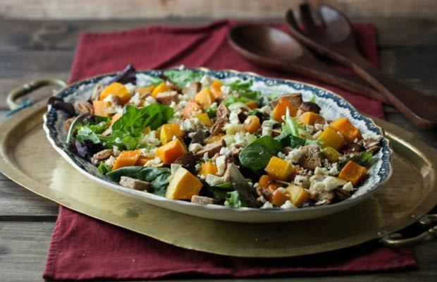 Honey Roasted Butternut Squash Blue Cheese Salad