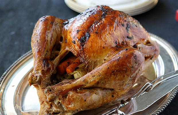 Roasted Turkey with Herb Butter and Roasted Shallots