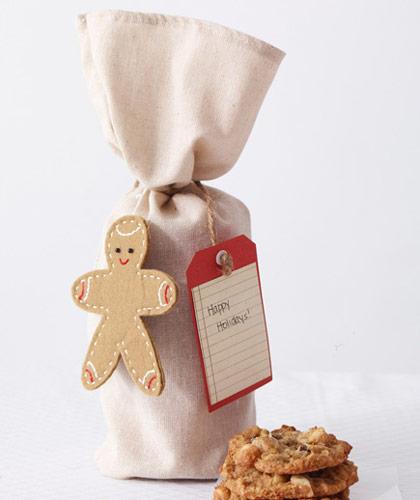 cookie packaging ideas - wine bags