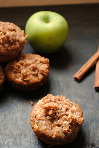 Gluten Free Paleo Apple Cinnamon Streusel Muffins