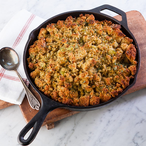 Gluten Free Corn Bread Challah Stuffing Recipe
