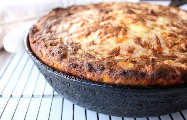 Sweet Corn Cheddar Spoonbread