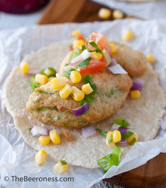 Beer Battered Avocado Tacos with Fresh Corn Salsa plus 8 Other Vegetarian Taco Recipes