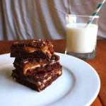 Salted Caramel Brownies from She Makes and Bakes