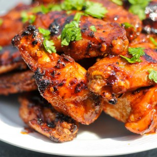 Grilled Honey Chipotle Chicken Wings from The Meatwave
