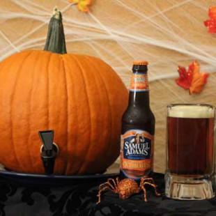 DIY Pumpkin Keg with Beer