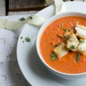 Roasted Tomato Caprese Soup