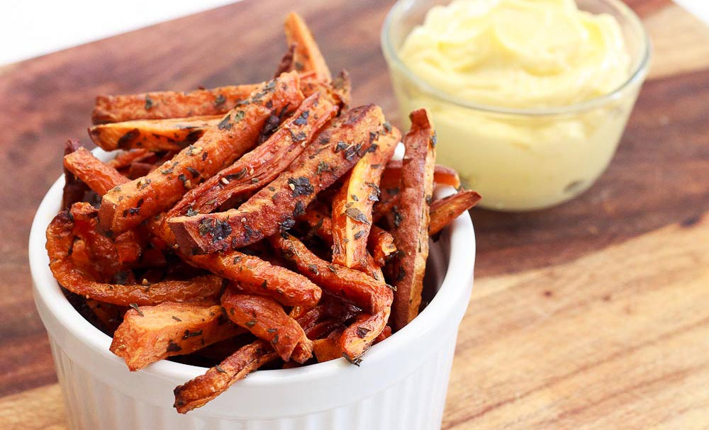 Oven Baked Carrot and Sweet Potato Fries | Recipes | NoshOn.It