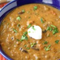 Hearty Lentil and Black Bean Soup with Smoked Paprika