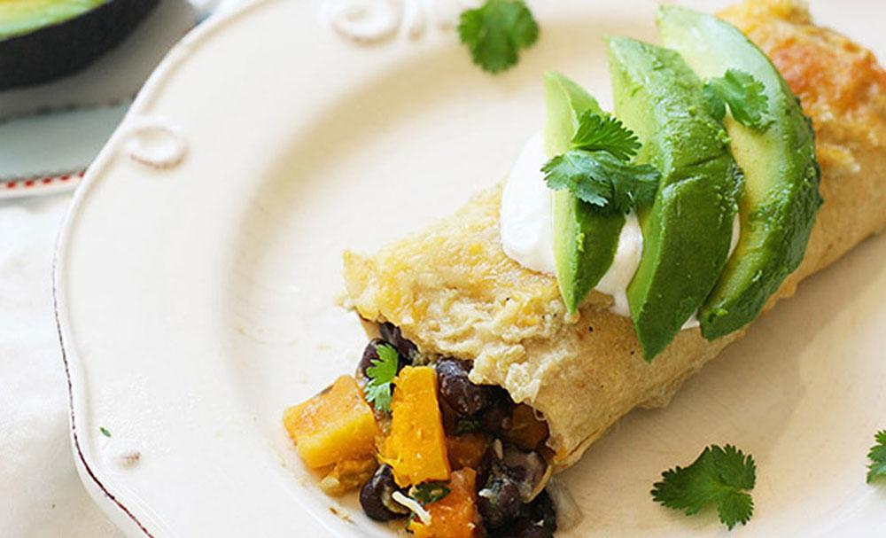 Roasted Butternut Squash and Black Bean Enchiladas | Recipes | NoshOn ...