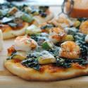 Trapanese Pesto Pizza with Shrimp & Kale
