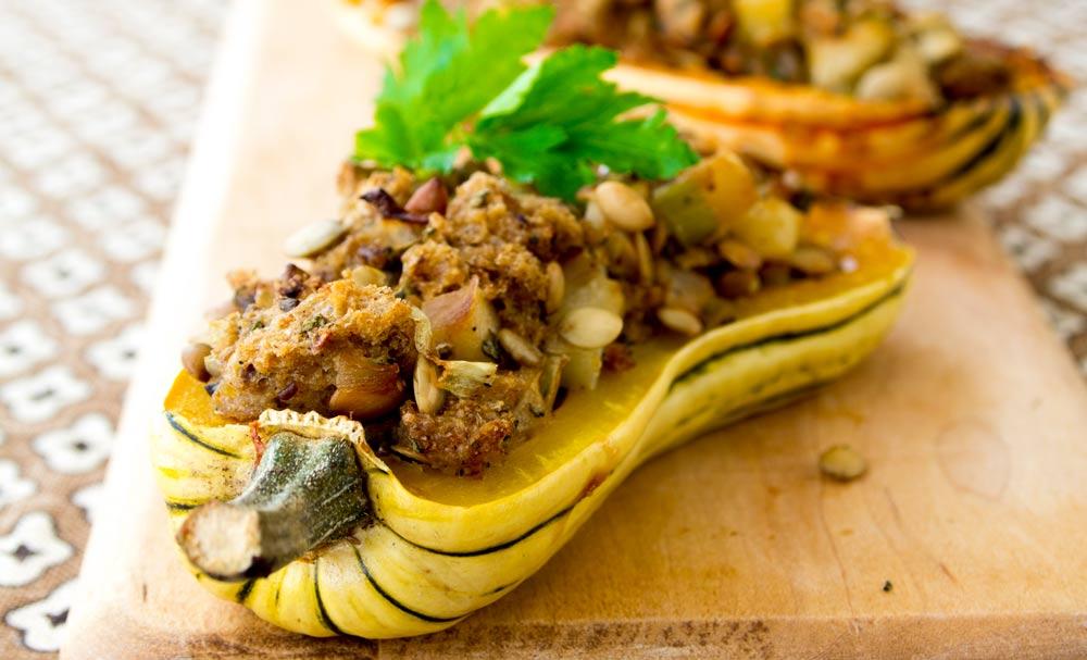 ... delicata squash acorn squash with butter miso harissa delicata squash