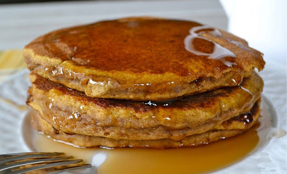 Whole Wheat Pumpkin Pancakes | Recipes | NoshOn.It