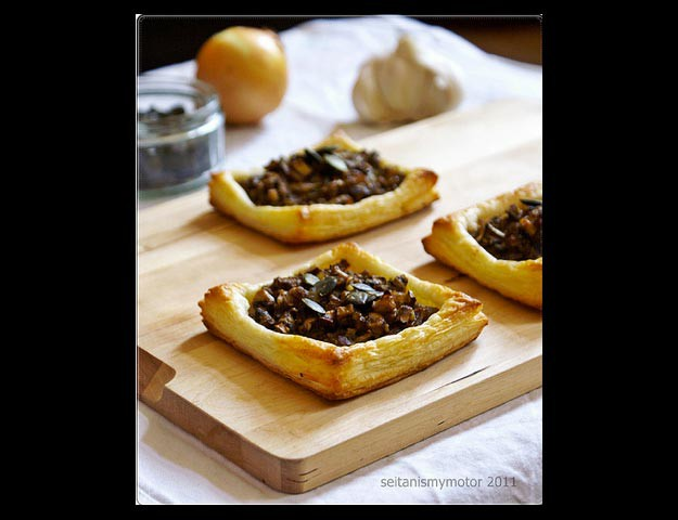 Puff Pastry Sheets with Mushrooms