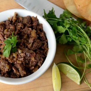Crockpot Steak Carnitas Tacos