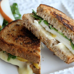 Grilled Cheese with Brie, Pear, and Hazelnuts