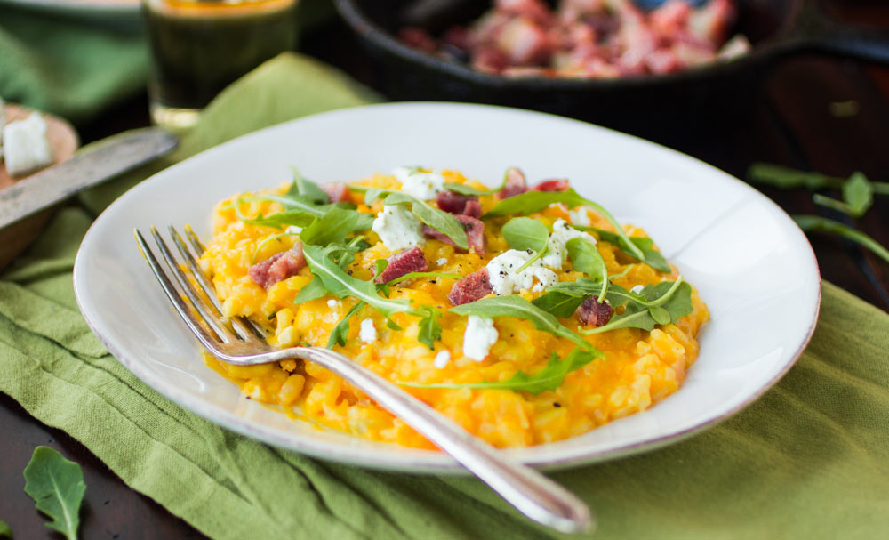 Butternut Squash Risotto with Pancetta and Chèvre | Recipes | NoshOn ...