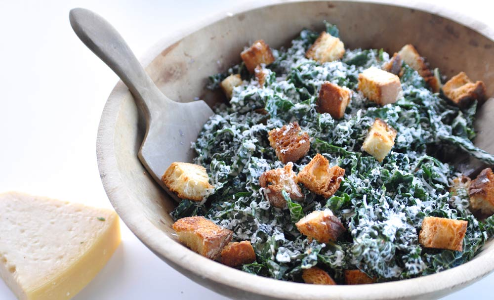 Kale Caesar Salad | Recipes | NoshOn.It