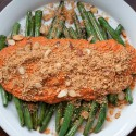 Pan Roasted Green Beans with Roasted Red Pepper Sauce