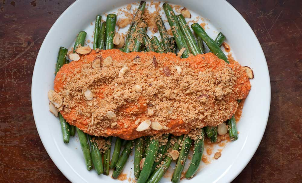 Roasted Green Beans And Red Bell Pepper With Garlic And Ginger Recipes ...