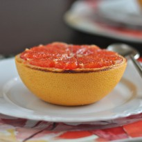 Vanilla Sugar Broiled Grapefruit