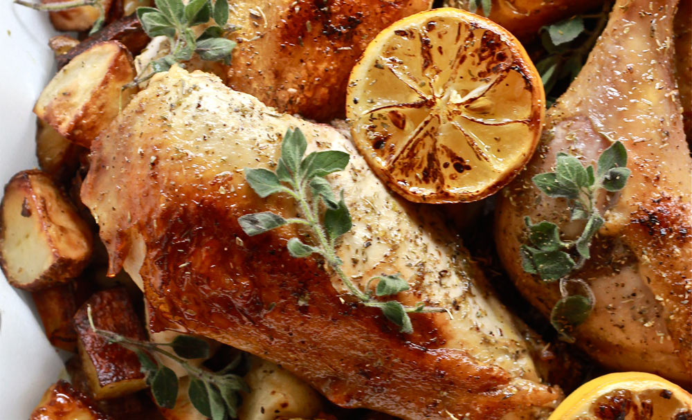Greek Chicken with Lemon and Oregano