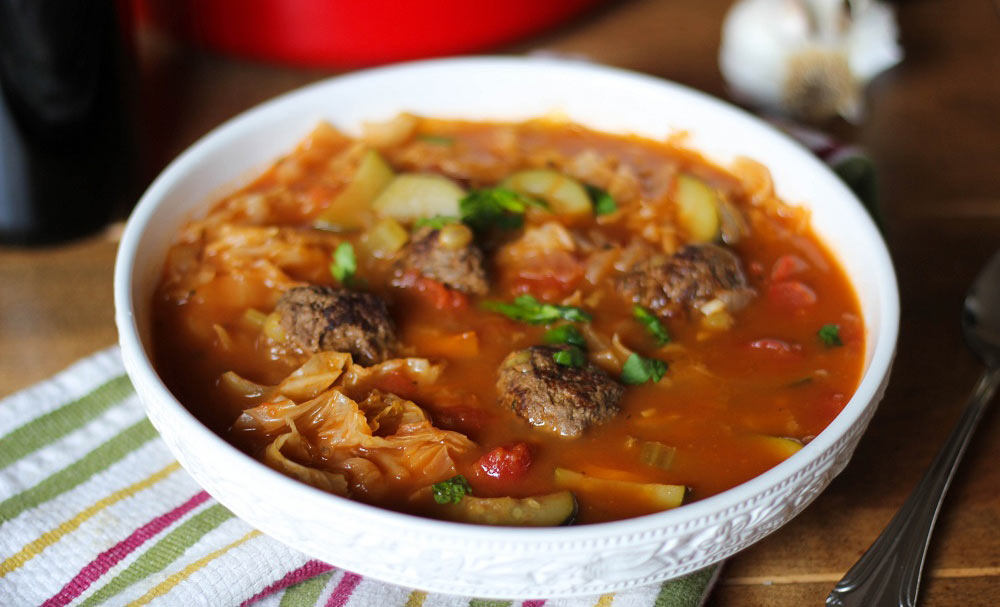 Sicilian Meatball Soup with Cabbage