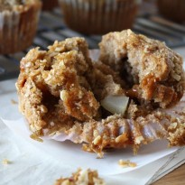 Brown Butter Caramel Pear Muffins