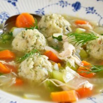 Dilled Matzo Ball Soup