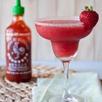 Strawberry Sriracha Margaritas