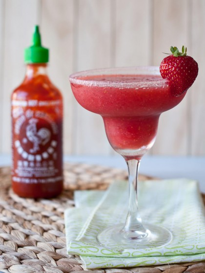 Strawberry Sriracha Margaritas
