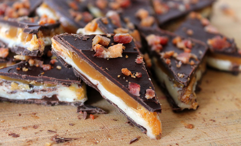 Whiskey Bacon Bark