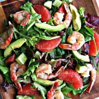 Grapefruit and Avocado Salad with Shrimp