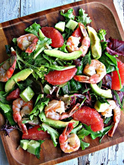 Grapefruit and Avocado Salad with Shrimp
