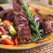 Lamb Kabobs with Tzatziki Sauce