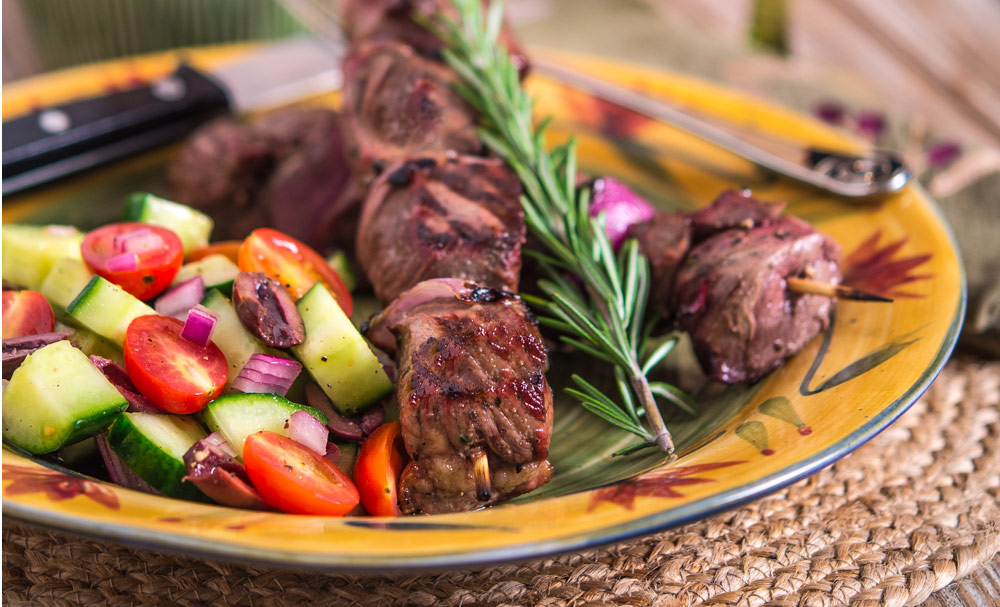 Yogurt Marinated Lamb Kebabs With Tzatziki Recipe — Dishmaps