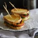 Grilled Portobello and Peach Sandwich