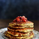 Grilled Pancakes with Plum Compote
