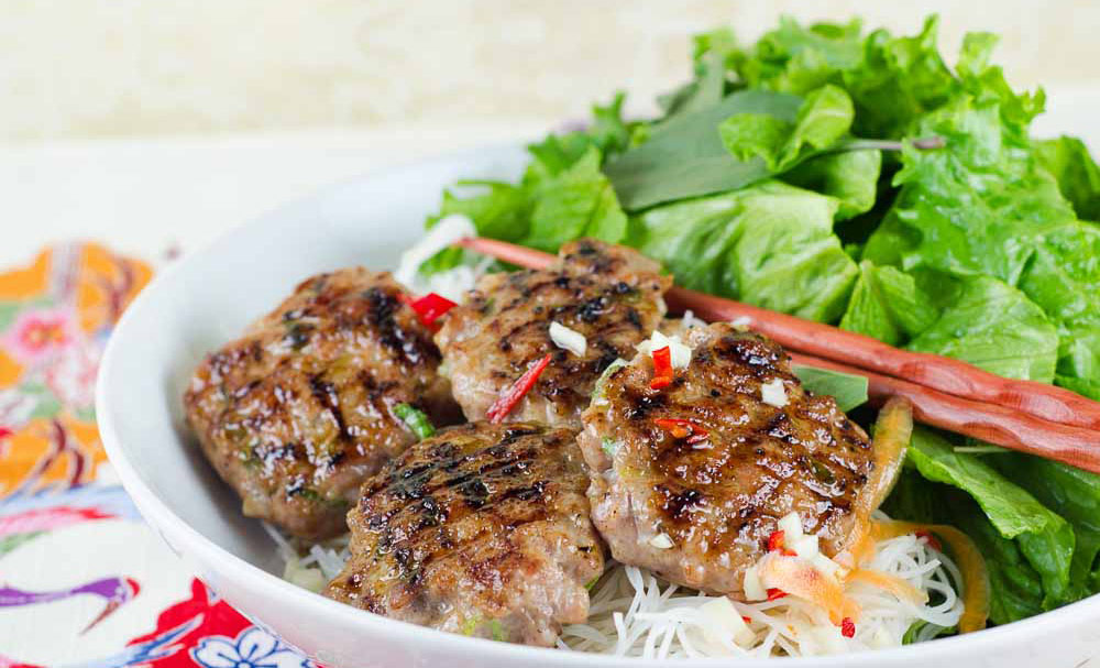 Bun Cha (Vietnamese Grilled Pork Meatballs) | Recipes | NoshOn.It