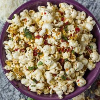 Margherita Pizza Popcorn from 479 Degrees