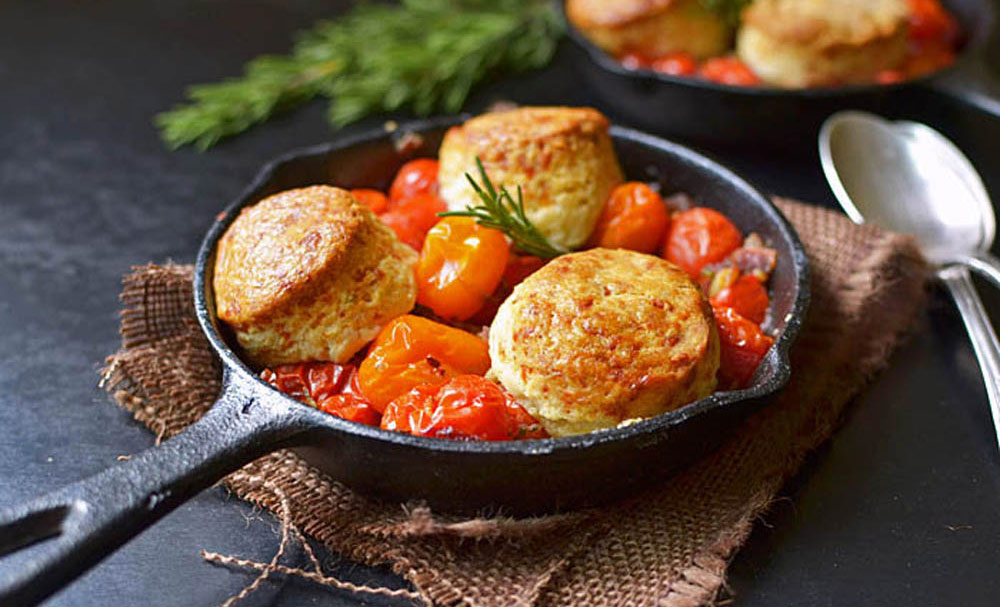 Tomato Cobbler with Rosemary and Gruyere Biscuits | Recipes | NoshOn ...