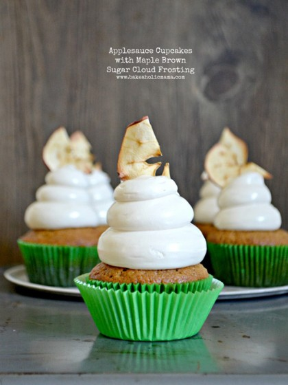 Applesauce Cupcakes with Maple Brown Sugar Frosting | Recipes