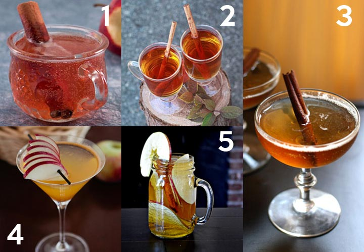 Drink and Cocktail Recipes with Apples plus over 40 other apple recipes