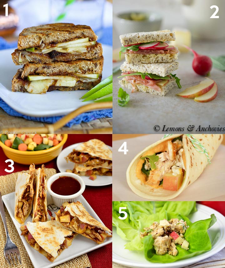 Sandwich and Wrap Recipes with Apples plus over 40 other apple recipes