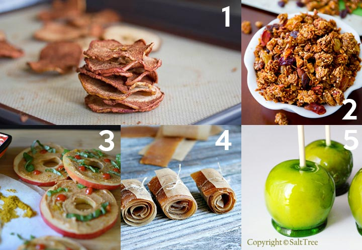 Snack Recipes with Apples plus over 40 other apple recipes