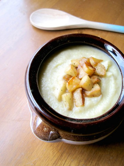 ... celery root puree puréed celery root soup with caramelized apples
