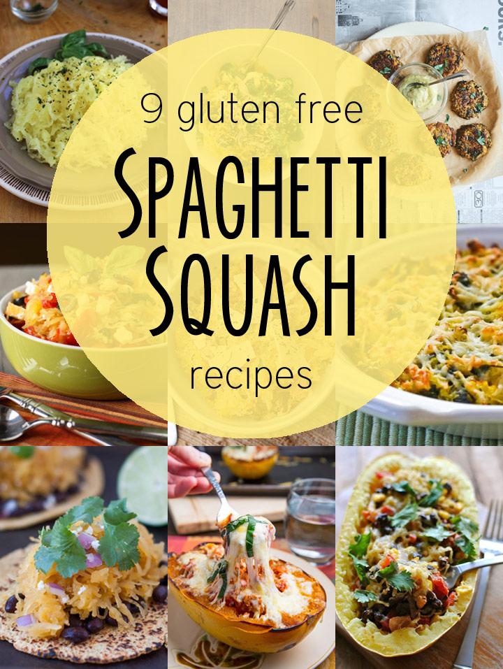 "9 Gluten Free ""Pasta"" Recipes Using Spaghetti Squash"