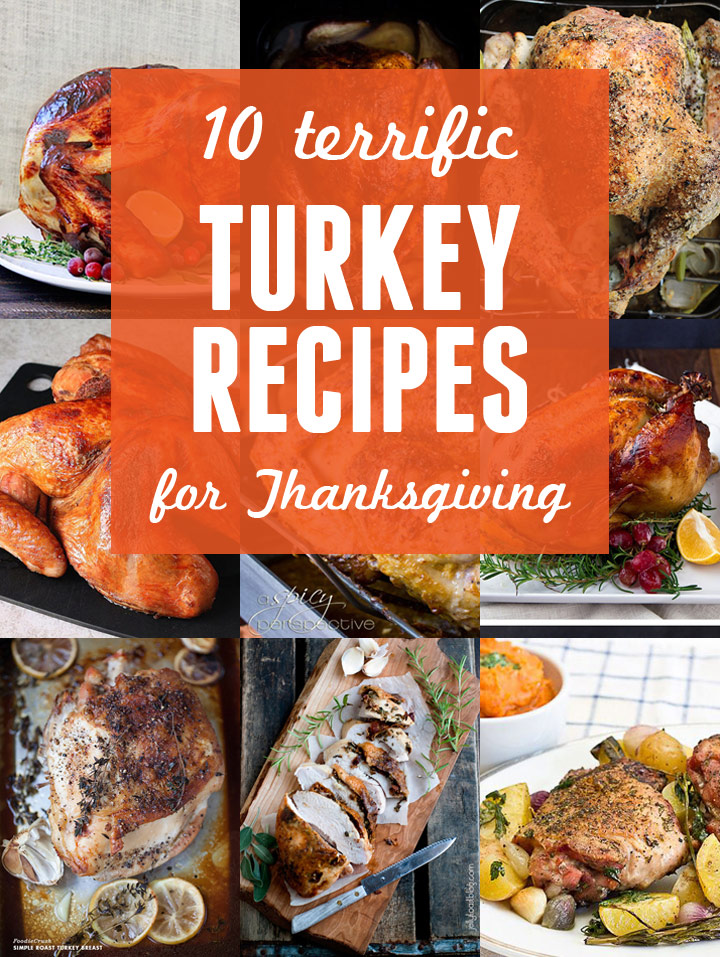 10 Terrific Turkey Recipes for Thanksgiving