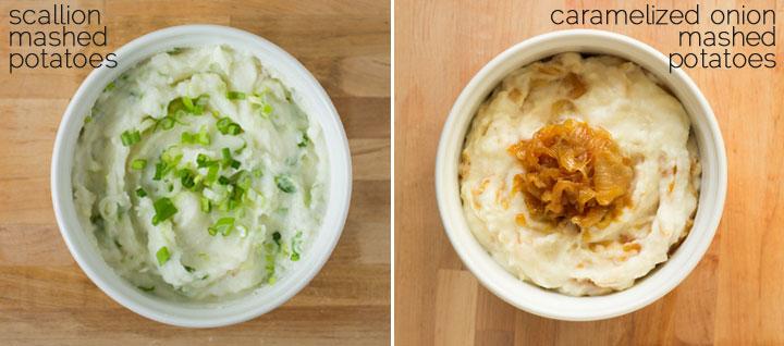 Scallion and Caramelized Onion Mashed Potatoes