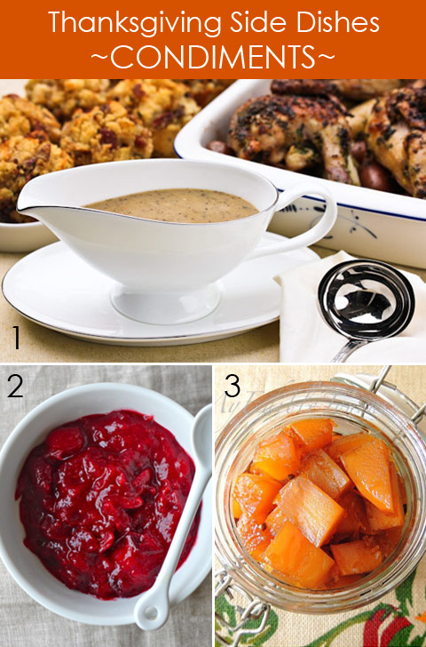 Thanksgiving Side Dishes - Condiment Recipes